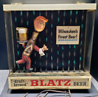 BLATZ Beer Running Waiter Display - Early 1960's Illuminated Motion Sign