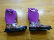 Girl's Bogs Waterproof Classic Pink Boots Size 3