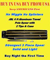 Pole Spear Travel Deluxe JBL 3pc heavy duty aluminum w/tips No Fiberglass Gun