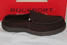 7f7cdc4dd64 Rockport Men Shoes Slippers Suede Scuffs Size 10 Brown Genuine Suedeo21