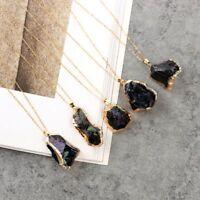 Cuarzo Negro Collar De Cristal Natural Piedra Irregular De Piedras Preciosas