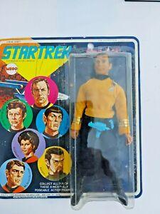 vintage 1974 MEGO Star Trek Capt. Kirk 6 portrait card front pink name rare MOC