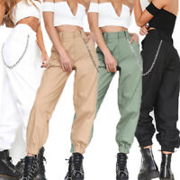 US Womens Camo Cargo Trousers Casual Pants Military Army Combat Camouflage Jeans