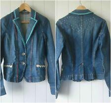 Womens Anna Linneth Upcycle Esprit Denim Jacket sz 6