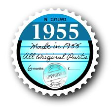 Retro 1955 Tax Disc Disk Replacement Vintage Novelty Licence Car sticker decal