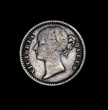 1840 (b & c) India-British Quarter 1/4 Rupee KM# 454.2 Plain 4 Victoria