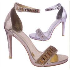 Argyle, Diamond Ankle Straps Standard Width (D) Heels for Women
