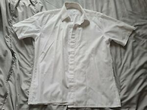 YSL Short Sleeve Shirt White Large L - Mens Classic Yves Saint Laurent