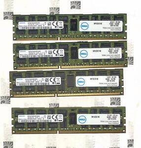 Lot of 4x (4x16Gb) Samsung ECC M393B2G70EB0-CMAQ2 16GB 2Rx4 PC3-14900R DDR3-1866