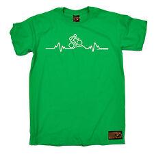 Mountain Bike Heartbeat Pulse Cycling T-SHIRT Cycle Fashion birthday funny gift