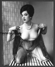 YGST-2043 VINTAGE 1960'S 7X10 ART NUDE BRITISH BUXOM MODEL SHOT BY RUSSELL GAY