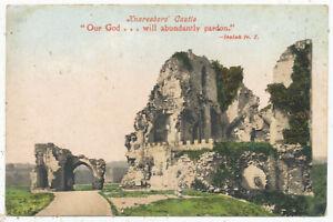 Knaresboro' Castle, 1908 postcard with biblical quote