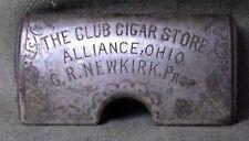 "Vint 1800's Match Safe ''The Club Cigar Store Alliance Ohio G.R.Newkirk Prop."""
