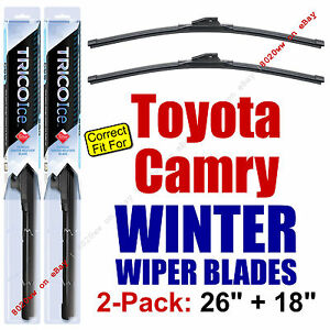 WINTER Wiper Blades 2-Pack Premium - Fit 2012+ Toyota Camry - 35260/180