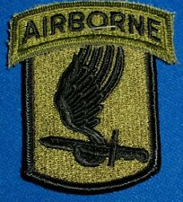 US Army 173rd Airborne Brigade Patch & Tab 1960s-80s