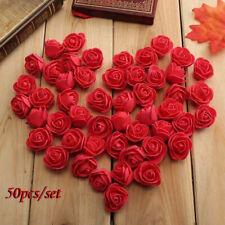 50Pcs Mini 3.5cm Foam Roses Artificial Flower Wedding Bride Bouquet Decor Striki