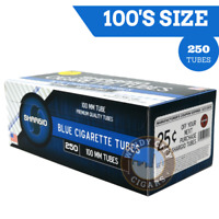 1 Box Shargio Blue Light 100's Filter Cigarette Tube RYO & Bonus case