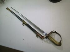 WWII THAILAND GOLDEN ELEPHANT OFFICERS SWORD WITH SCABBARD & RAYSKIN GRIP MAKER