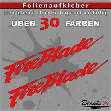 2er SET - FIREBLADE Sponsoren-Folienaufkleber Auto/Motorrad - 30 Farben - 24cm