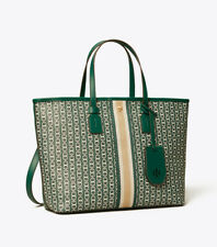 ON HAND Authentic Tory Burch Gemini Link Small Top Zip Tote - Malachite