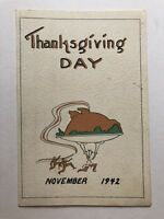 WWII November 1942 Thanksgiving Day Menu for 20th Ordnance Maintenance Company