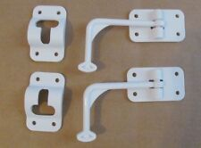 2 Sets RV White Cargo Entry Door Catch Holder Hook Latch 90 Degree Style SALE