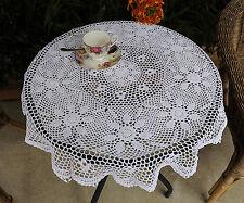 Cotton Hand Crochet Lace Doily Placemat Tablecloth Round 82CM White