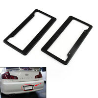 2PC Universal Black Carbon Fiber Printed Style Front/Rear License Plate Frame T0