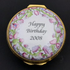 Halcyon Days Enamel Happy Birthday 2008 Box