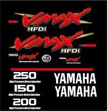 Yamaha VMAX 150, 200, 225. 250 Boat Decals