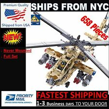 84020 Ah-64 Apache Custom 100% Compatible With Lego KAZI brand 658 Pcs (W/ BOX)
