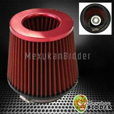 4'' Inlet Red Short Ram/Cold Intake High Flow Mesh Cone Air Filter Fit Universal