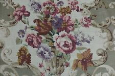 "MULBERRY CURTAIN/UPHOLSTERY FABRIC DESIGN ""Floral Rocco"" 8.4 METRES TAUPE"