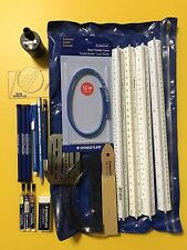 Staedtler & Post Drafting Lot - Pencils, Lead, Rulers, etc. 21 Pcs - See Details