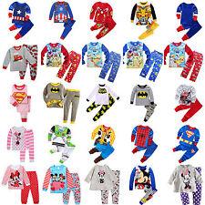 2tlg. Set Kinder Langarm T-shirt Tops + Hose Leggings Jungen Mädchen Kleidung