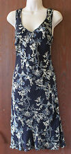 Hyphen excusively at DEBENHAMS fully lined 1/2 silk black floral dresssize 10
