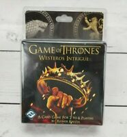 NEW Game Of Thrones HBO SealWesteros Intrigue Card Game 2-6 Players