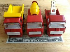 Vintage 1970's Japan Mini Garbage Truck Pressed Steel and other 4dump truck