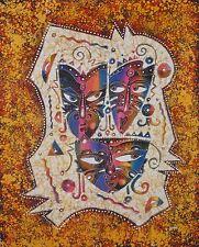 Maschera Pittura Batik arte astratta di buona qualità.
