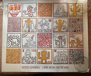 "Keith Haring ""One Man Show 1982"" Poster Limited Edition Printed in France 1986"