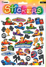 MONKEY RACING CAR STICKERS,TEACHERS AID,SCHOOL,KIDS,GIFT,SCRAPBOOKING