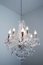 lustre classique chandelier transparent à 9 branches lampe de salon 35178