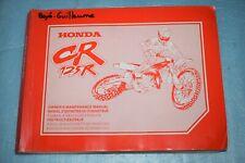 manuel d'entretien /d'atelier revue technique Honda CR 125 R de 1999