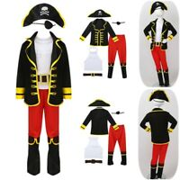 Pirate Costume Kids Fancy Dress Up Outfit Boys Cosplay Book Week Party Halloween