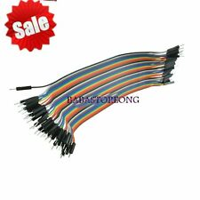 40PCS Dupont wire jumper cables 20cm 2.54MM male to male 1P-1P For Arduino BE