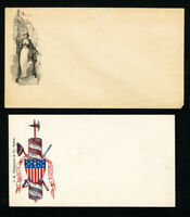 US Stamps Lot of 2 Early Patriotic Postal Materials