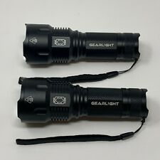 2-PCs High-Powered LED Flashlight S1200 - Zoomable, & Water Resistant
