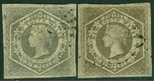 NEW SOUTH WALES : 1854-55. Scott #28-29 VF, Used. Both Choice. Catalog $275.00.