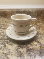 Longaberger Woven Traditions Heritage Blue Cup & Saucer Set USA