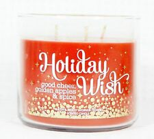 1 Bath & Body Works HOLIDAY WISH  3-Wick Filled Candle 14.5 oz CHEER APPLE SPICE
